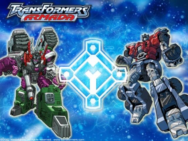 Transformers-Armada-Megatron-v-Optimus-Prime