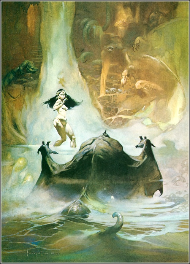 _frank frazetta-at the earths-core