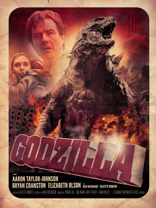Godzilla POSTER 2 SMALL