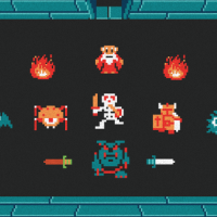 "Harlan Elam Releases Another Print From His Nostalgic 8-Bit Game Series: ""The Legend Of Zelda: Level One"""