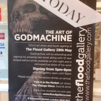 Check Out These Exclusive Images From Godmachine's First Solo Show At The Flood Gallery Featuring New Work & His Very First Art Book!