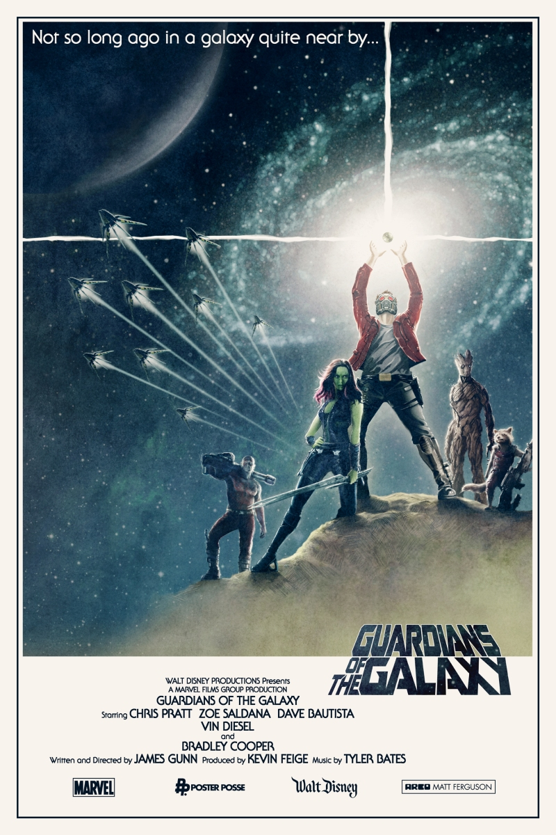 "Exclusive: PHASE 1 Of Poster Posse Project #9 Goes To The Stars With Our Tribute To The Marvel/James Gunn Blockbuster: ""Guardians Of The Galaxy"""