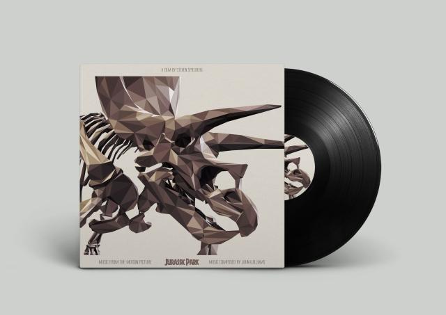 :Jurassic Park vinyl cover