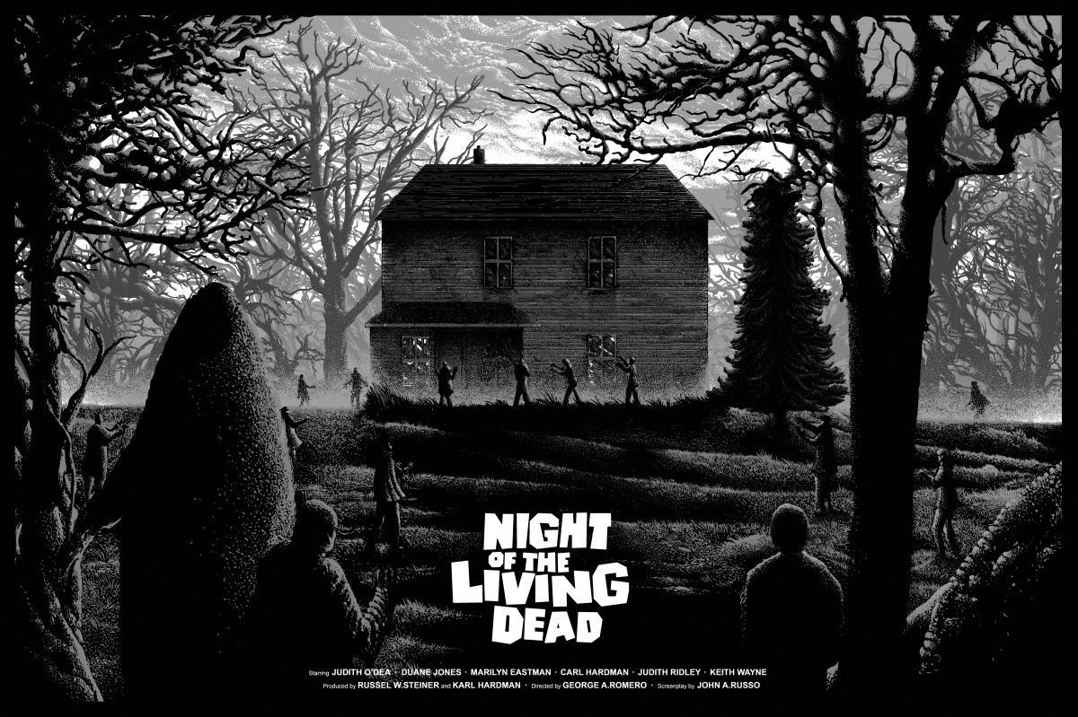 "Grey Matter Arts Partners With Kilian Eng On A New Print For The George A. Romero Classic: ""Night Of The Living Dead"""