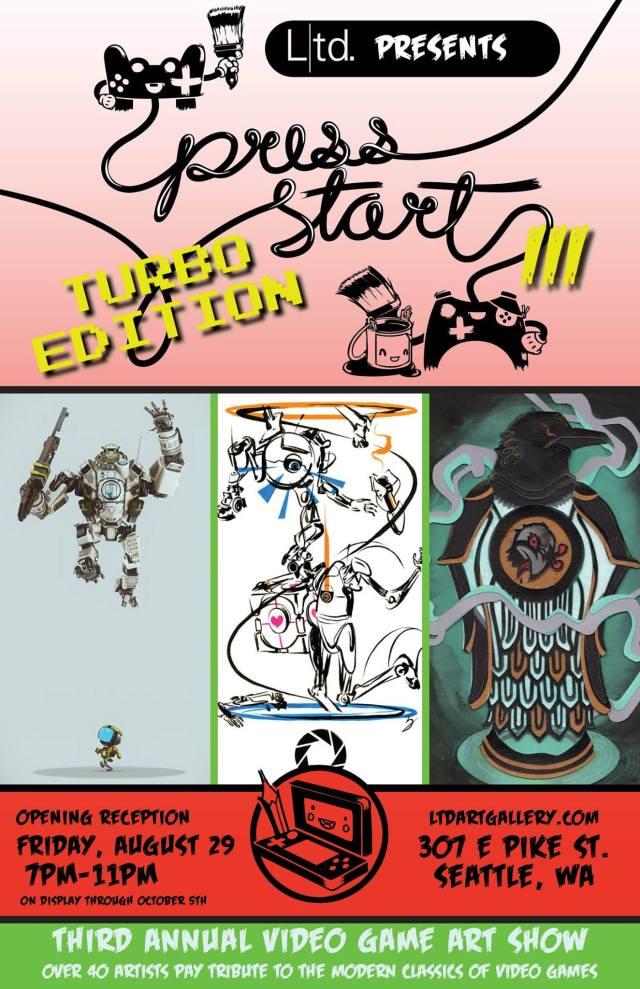 LTD art gallery Press Start