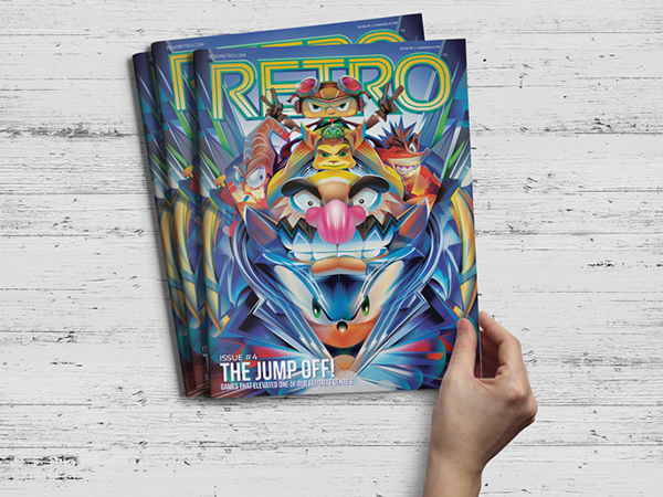 Retro magazine cover Orlando Arocena