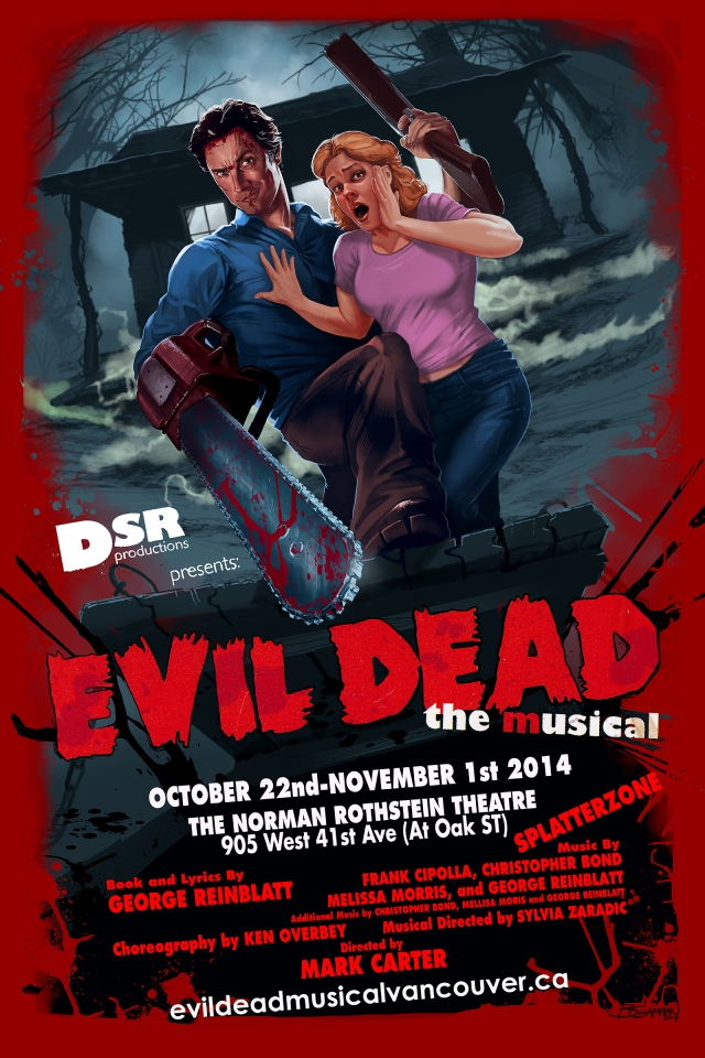 Evil Dead Musical 2014PosterREV2_Barret Chapman
