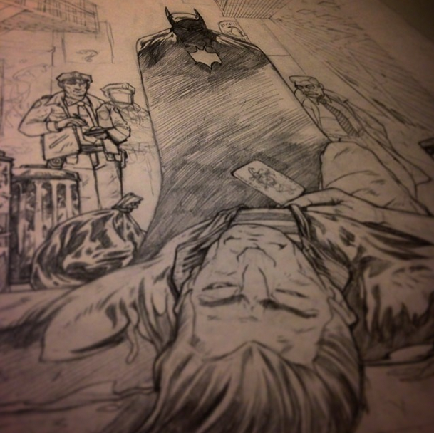 JohnnyDombrowski_Batman_CallingCardPencils