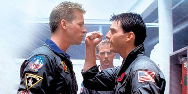 Val Kilmer og Tom Cruise i Top Gun