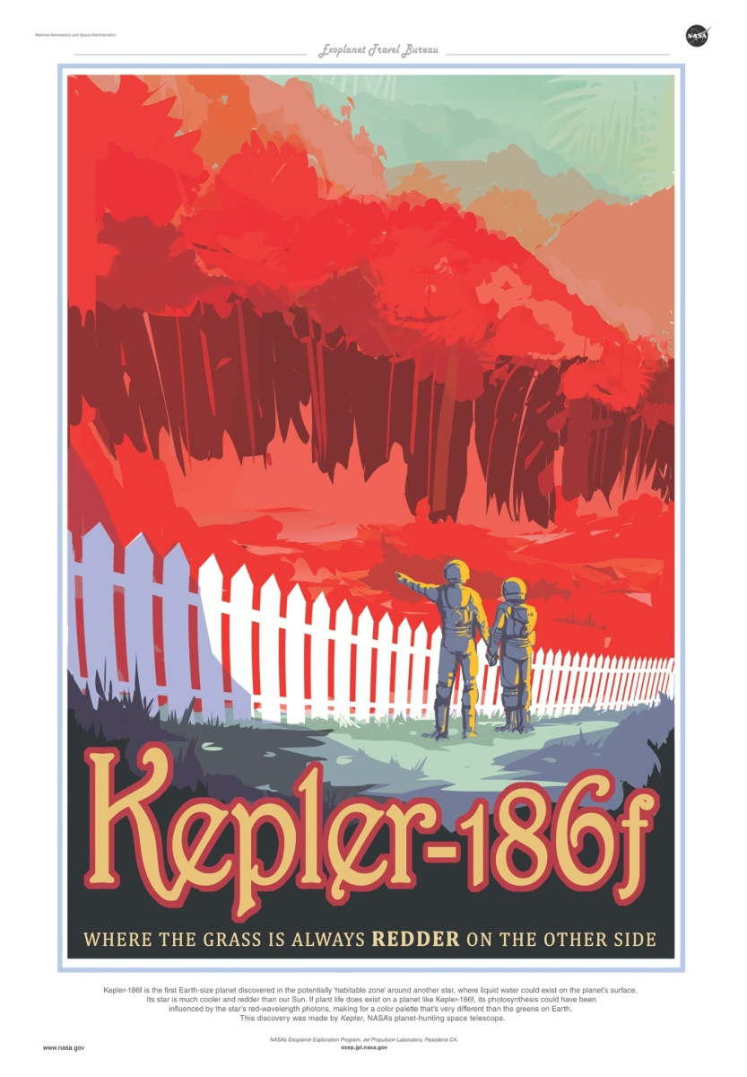 "Nasa And Olly Moss Create Some Stunning Travel Posters For Newly Discovered ""Exoplanets"""