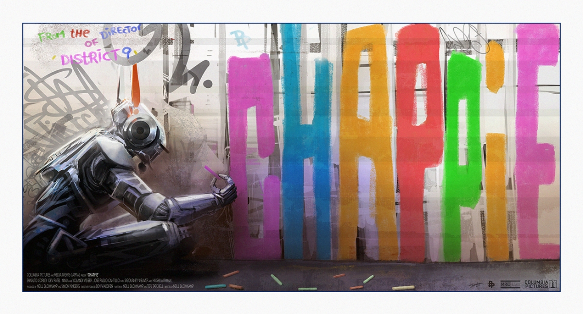 "Poster Posse Project #14 Pays Homage To Neill Blomkamp's Upcoming Sci-Fi Film: ""Chappie"""