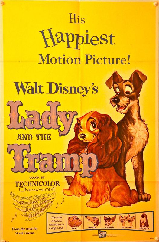 Lady and the Tramp RR62 One Sheet