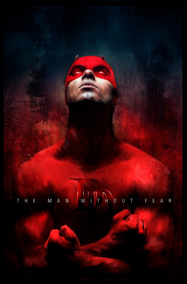 Daredevil_RED_Rich_Davies_Poster_Posse