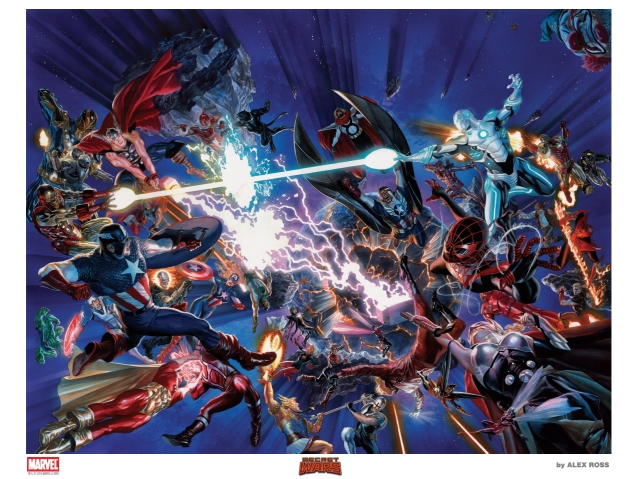 AlexRoss-SDCC 2015 Litho6 SECRET WARS OverSized