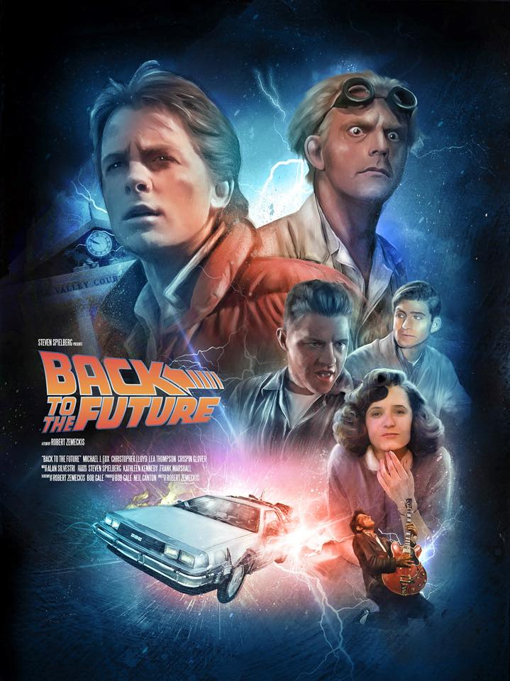 the poster posse celebrates the 30th anniversary of back to the future blurppy. Black Bedroom Furniture Sets. Home Design Ideas