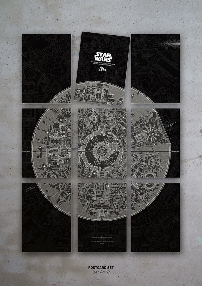 Carlos Pardos Kickstarter Campaign Reveals The Lost Blueprint For - Death star blueprints