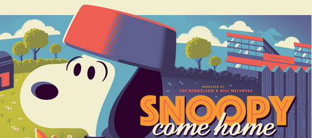 "104ed4fa9c Dark Hall Mansion   Tom Whalen Reveal Their Next Officially Licensed  Peanuts Print  ""Snoopy Come Home"""