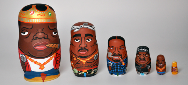 Andy-Stattmiller-Notorious-BIG- Snoop-Dog-Tupac-nesting-dolls