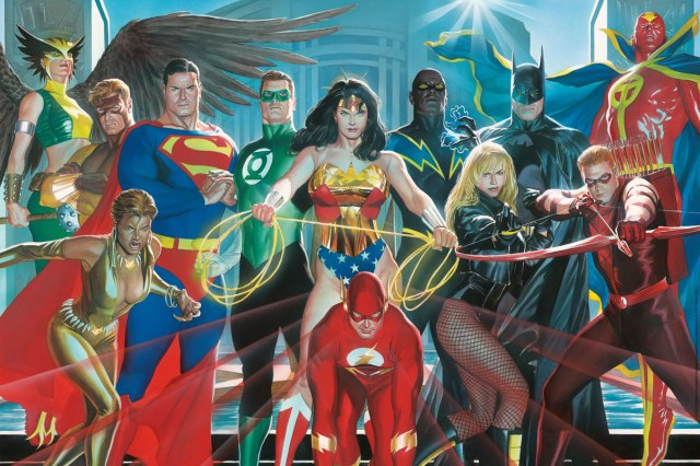 french-paper-art-club-alex-ross-jla-poster