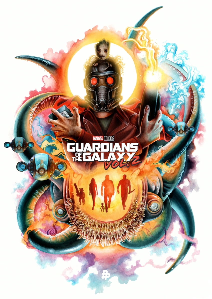 "The Poster Posse Pays Homage To Marvel Studios / James Gunn's ""Guardians Of The Galaxy Vol.2"""