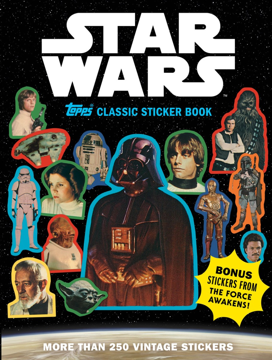"""Star Wars Topps Classic Sticker Book""... This IS The Sticker Book You Are Looking For..."