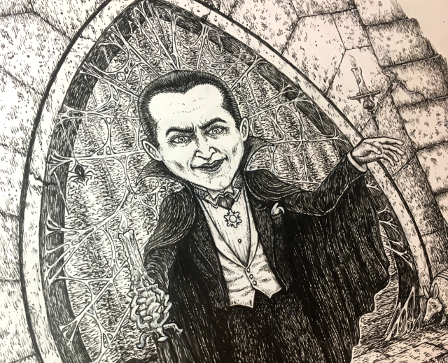 1-Spusta-Dracula-original-ink-drawing