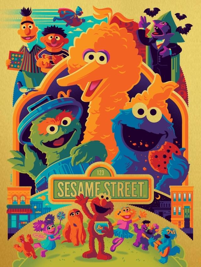 Sesame-Street-Tom-Whalen-Gold-Foil