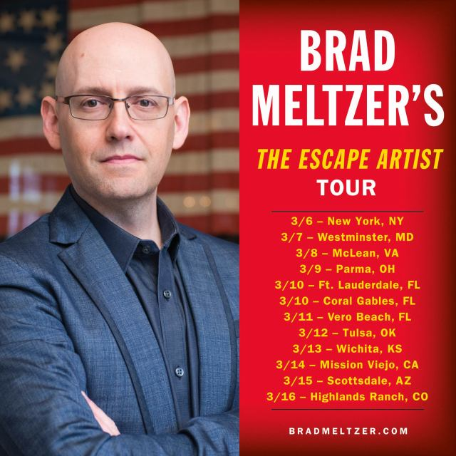 Brad-Meltzer-Escape-artist-book-tour